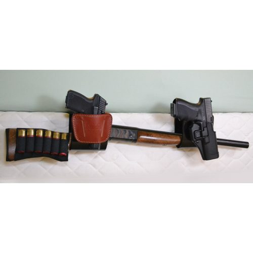 Holster Mate Shotgun Bracket with 2 pistols