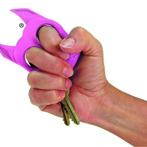 Brutus Self Defense Key Chain - Pink Held