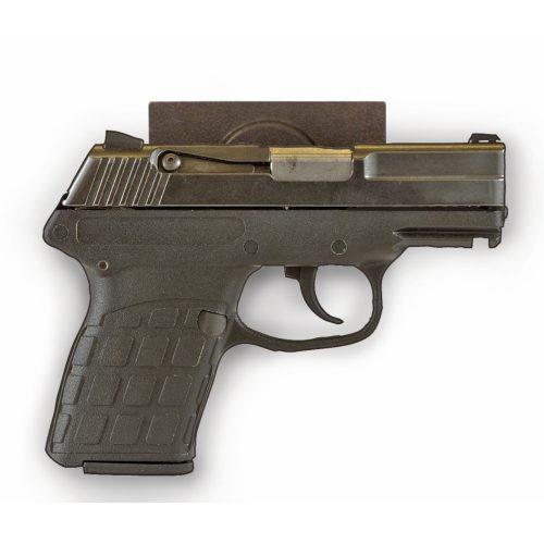Quick Draw Gun Magnet - semi-automatic pistol on wall